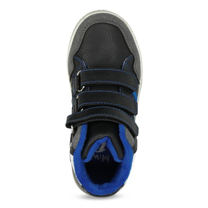 Členkové detské tenisky na suché zipsy mini-b, čierna, 211-6627 - 17