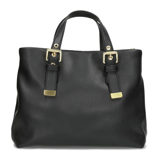 Čierna kabelka so zlatými sponami bata, čierna, 961-6886 - 26