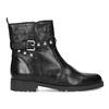 Čierna kožená členková obuv s kovovými cvočkami bata, čierna, 594-6671 - 19