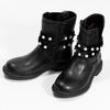 Dievčenské zateplené čižmy s perličkami mini-b, čierna, 291-6111 - 16