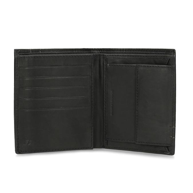 Kožená peňaženka s prešitím bata, hnedá, 944-6148 - 15