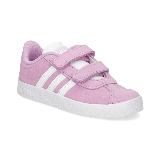 Ružové kožené detské tenisky adidas, ružová, 103-5203 - 13