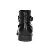 Kožená členková obuv s kovovými cvočkami bata, čierna, 594-6668 - 15