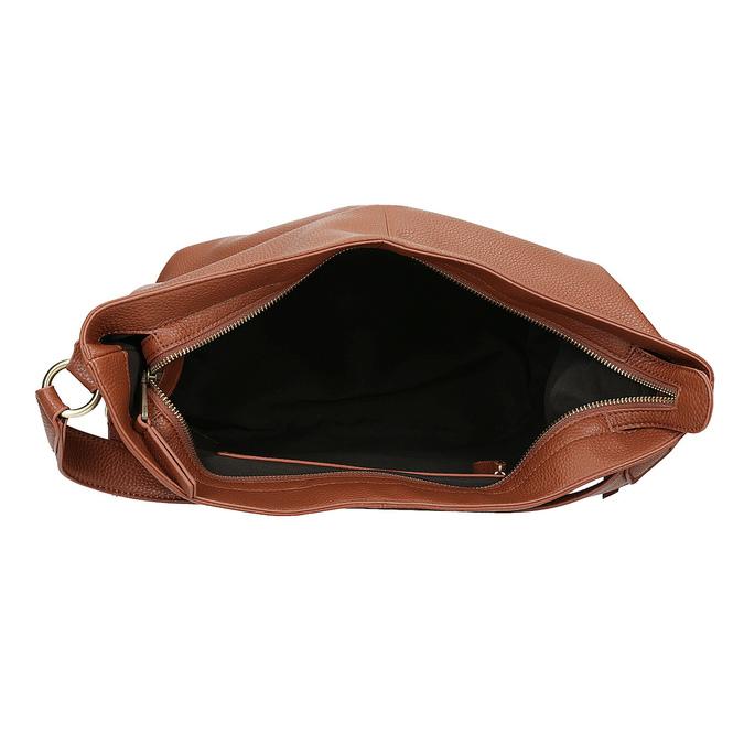Hnedá Hobo kabelka s prešitím bata, hnedá, 961-4921 - 15