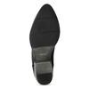 Dámska kožená členková obuv s pružením bata, čierna, 596-6969 - 18