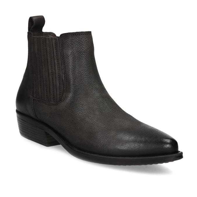 Dámska hnedá členková obuv s pružením bata, hnedá, 596-4969 - 13