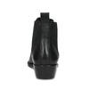 Dámska kožená členková obuv s pružením bata, čierna, 596-6969 - 15