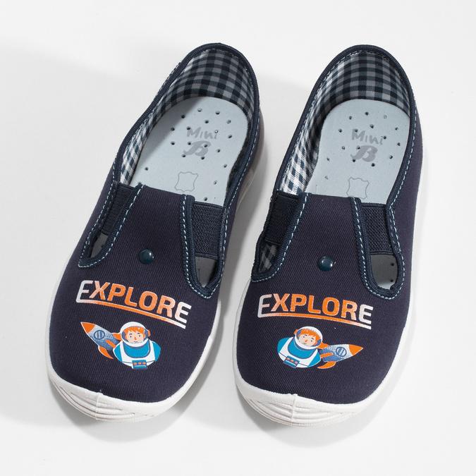Detská domáca obuv s motívom rakety mini-b, modrá, 379-9219 - 16
