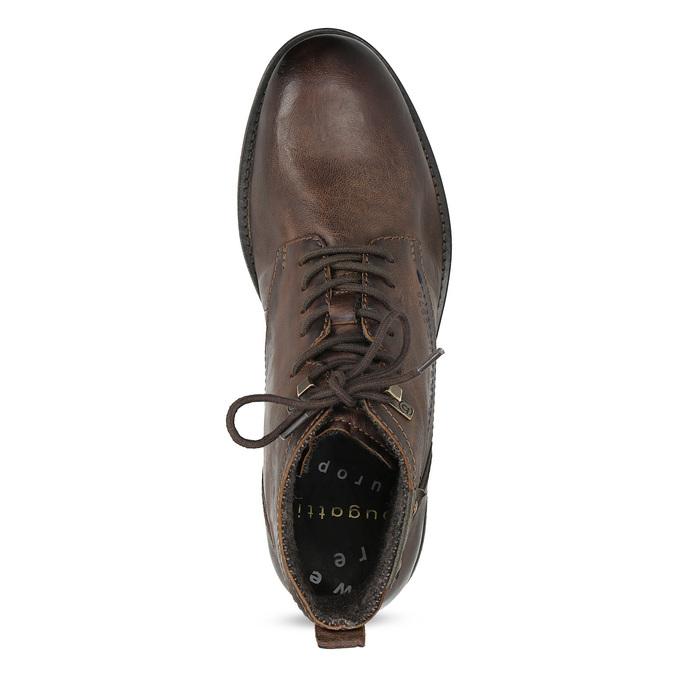 Členková pánska obuv s viazaním bugatti, hnedá, 826-4056 - 17