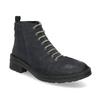 Kožená dámska členková obuv bata, modrá, 596-9709 - 13
