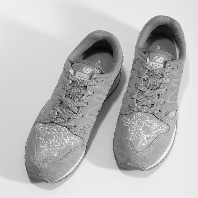 Šedé kožené tenisky so vzorom new-balance, šedá, 503-2176 - 16