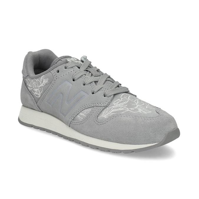 Šedé kožené tenisky so vzorom new-balance, šedá, 503-2176 - 13