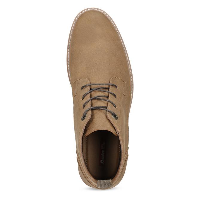 Pánska členková béžová obuv bata-red-label, hnedá, 821-3608 - 17