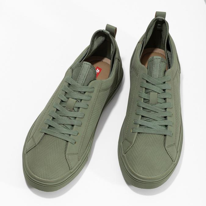 Pánske khaki tenisky bata-red-label, zelená, 841-7623 - 16