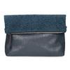 Tmavomodrá listová kabelka s klopou a kamienkami bata, modrá, 961-9910 - 26