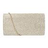 Zlatá dámska listová kabelka bata, zlatá, 969-8701 - 16