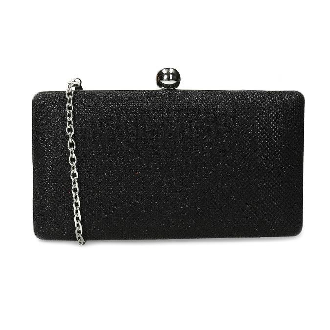 Čierna trblietavá listová kabelka bata, čierna, 969-6702 - 16