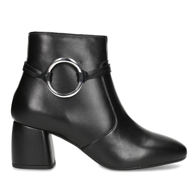 Kožená dámska členková obuv bata, čierna, 694-6665 - 19