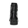 Dámske kožené čižmy s prackou bata, čierna, 594-6672 - 15
