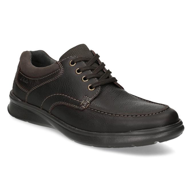 77ba9ccb768c Clarks Pánske kožené topánky s prešitím - Ležérne