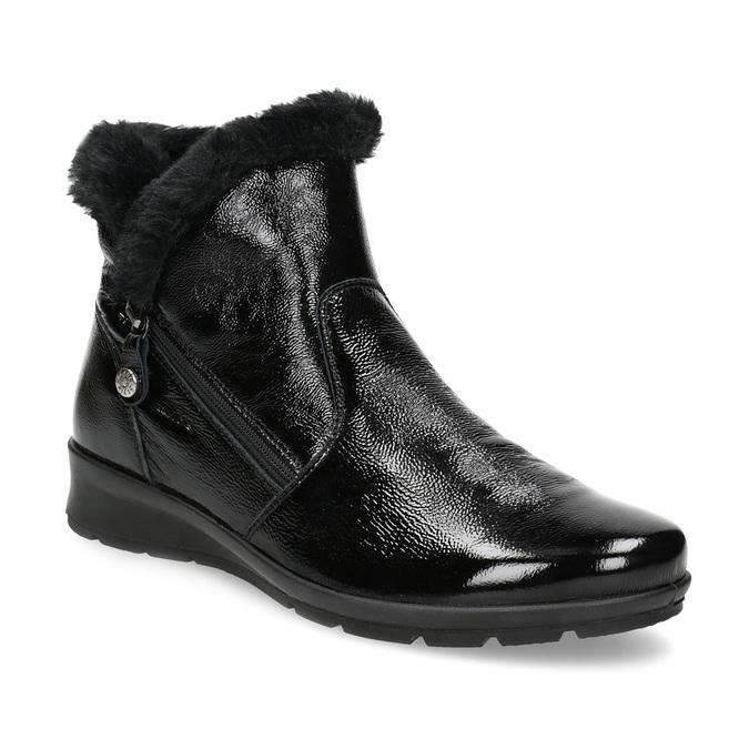 Comfit Dámska kožená členková obuv s kožušinkou - Ženy  63799444f79