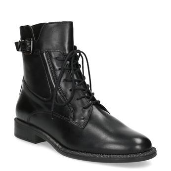 Zimná členková obuv s prackou bata, čierna, 594-6674 - 13
