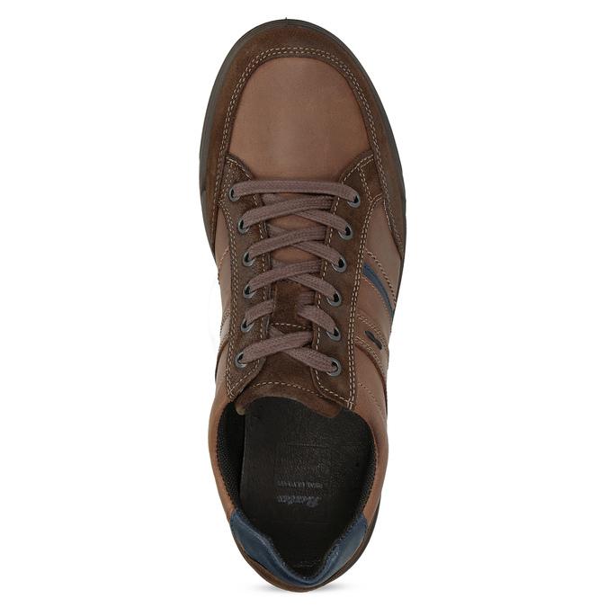 Kožené pánske hnedé tenisky bata, hnedá, 846-4714 - 17