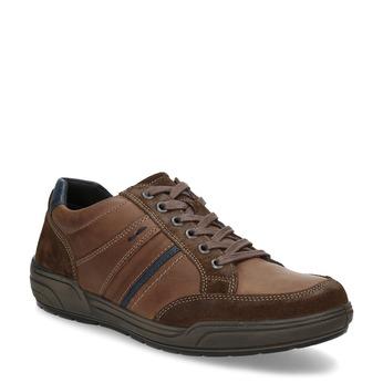 Kožené pánske hnedé tenisky bata, hnedá, 846-4714 - 13