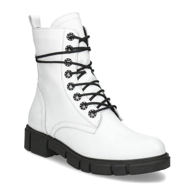 Baťa Dámska biela kožená členková obuv - Všetky topánky  b6077688aea