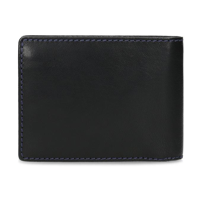 Kožená peňaženka s modrým prešitím bata, čierna, 944-6218 - 16