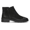 Dámska kožená členková obuv bata, čierna, 596-6708 - 19
