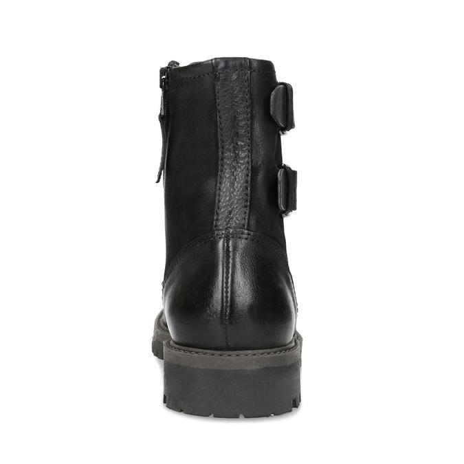 Pánska kožená zimná čierna obuv bata, čierna, 896-6735 - 15