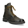 Zimná vysoká kožená členková obuv bata, šedá, 896-2737 - 13
