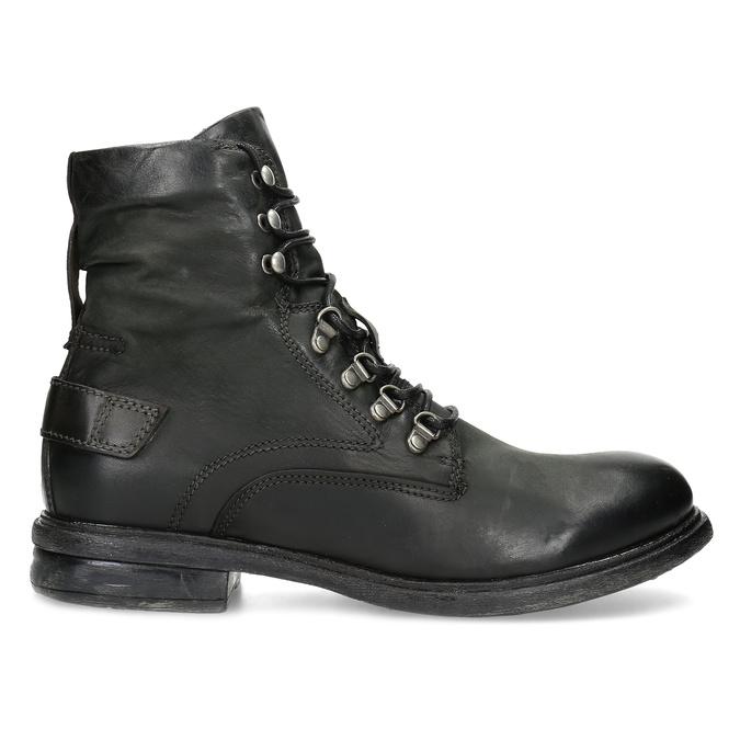 Čierna pánska kožená členková obuv bata, čierna, 896-6743 - 19