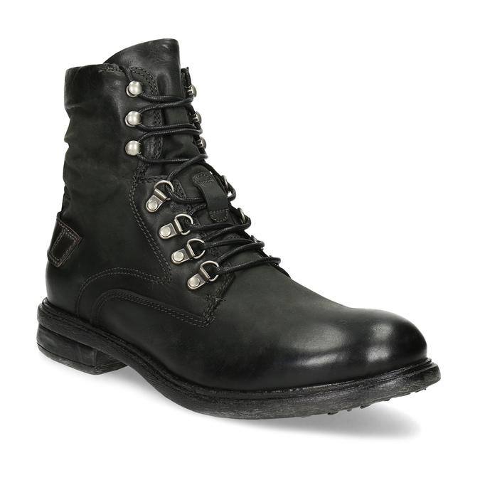 Baťa Čierna pánska kožená členková obuv - Urban Soldier  91dd3884d77