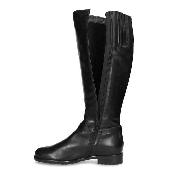 Kožené čierne dámske čižmy bata, čierna, 594-6676 - 17