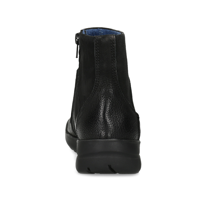 Kožená dámska členková obuv bata, čierna, 596-6706 - 15