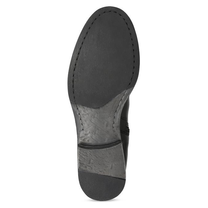 Kožené čierne čižmy s prackou bata, čierna, 594-6678 - 18