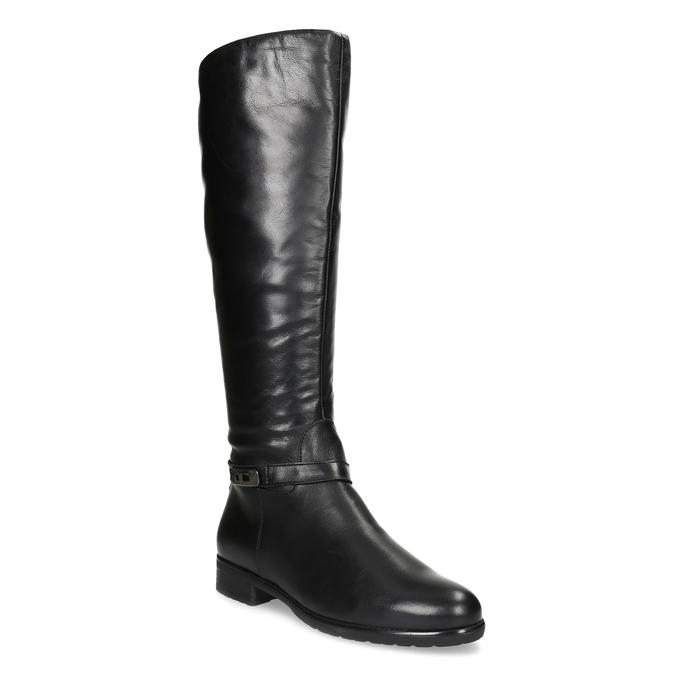 Kožené čierne dámske čižmy bata, čierna, 594-6676 - 13