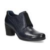 Modrá kožená členková obuv s pružením clarks, modrá, 716-9076 - 13
