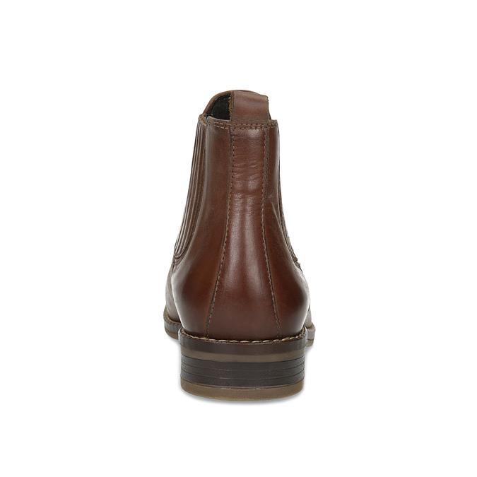 Kožená dámska obuv v Chelsea štýle bata, hnedá, 594-4682 - 15