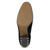 Dámska kožená členková obuv s cvočkami bata, čierna, 723-6661 - 18
