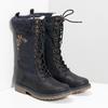Dievčenské čižmy  s kožúškom a výšivkou mini-b, modrá, 391-9671 - 26