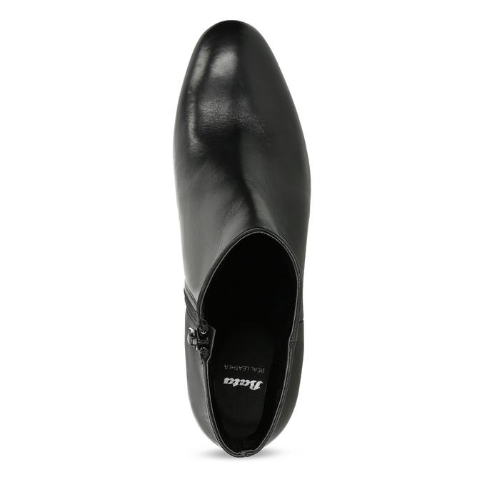 Členková kožená obuv na stabilnom podpätku bata, čierna, 796-6654 - 17