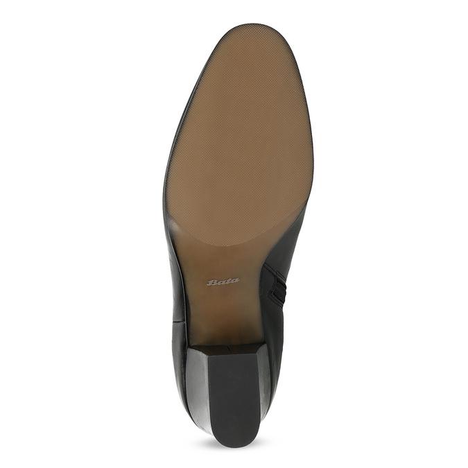 Členková kožená obuv na stabilnom podpätku bata, čierna, 796-6654 - 18