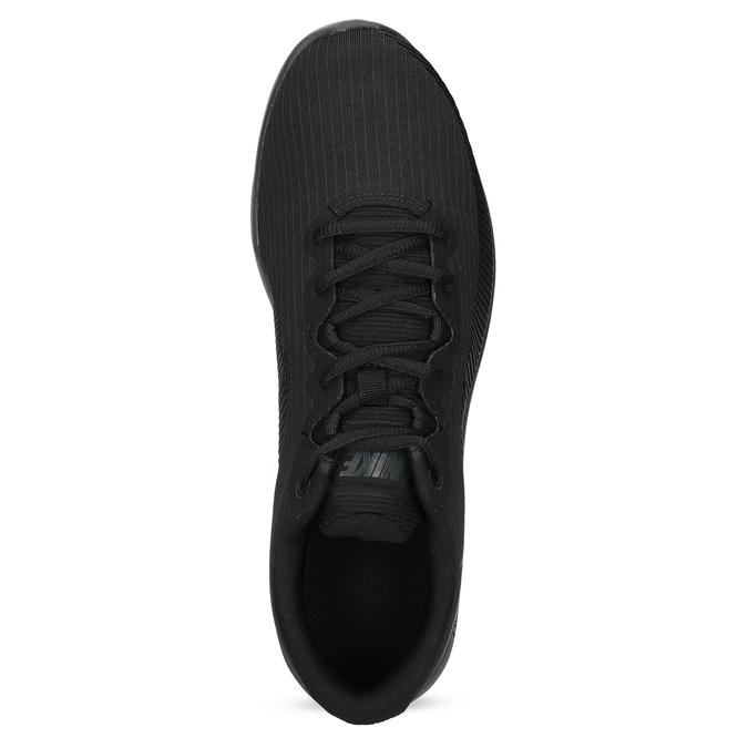 Pánske čierne tenisky s výraznou podrážkou nike, čierna, 809-6166 - 17
