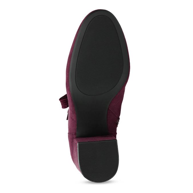 Vínové dámske čižmy so šnurovaním bata-red-label, červená, 799-5633 - 18