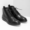 Čierna kožená členková pánska obuv bata, čierna, 894-6721 - 26