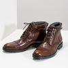 Pánska hnedá lesklá členková obuv bata, hnedá, 896-3720 - 16