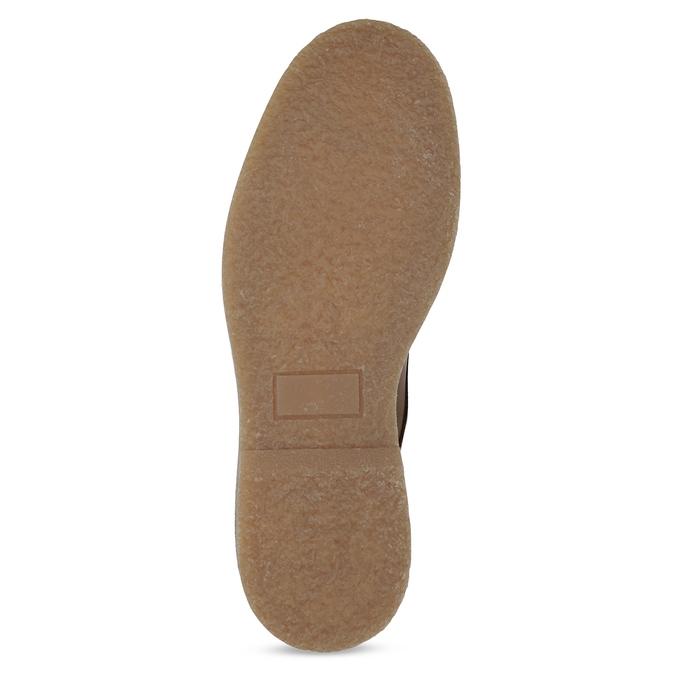 Hnedá kožená členková pánska obuv bata, hnedá, 896-3721 - 18